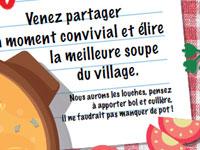 Samedi 16 février 19h : la fête de la soupe !