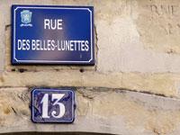 Explorer la rue des Belles Lunettes